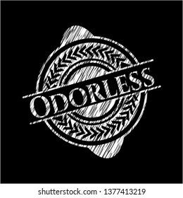 Odorless on chalkboard