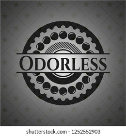 Odorless realistic black emblem