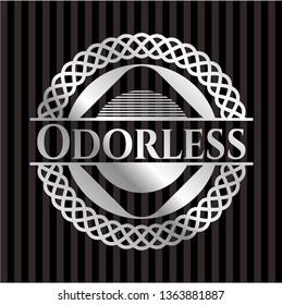 Odorless silver badge or emblem