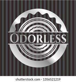 Odorless silvery badge or emblem