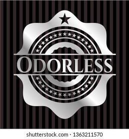 Odorless silvery emblem or badge