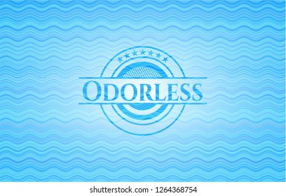 Odorless water representation emblem.