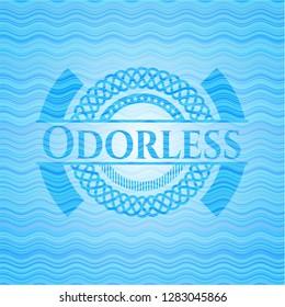 Odorless water wave badge background.