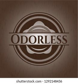 Odorless wood emblem. Retro