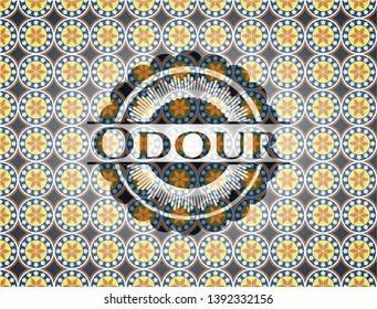 Odour arabesque emblem background. arabic decoration.