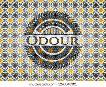 Odour arabic badge. Arabesque decoration.