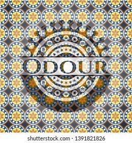 Odour arabic style emblem. Arabesque decoration.