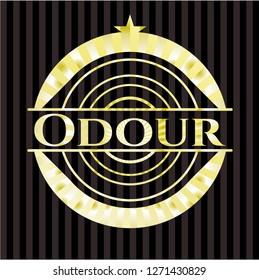 Odour gold badge or emblem