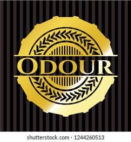 Odour gold emblem or badge