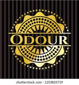 Odour golden emblem or badge