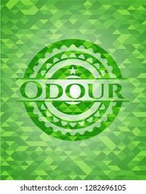 Odour green mosaic emblem