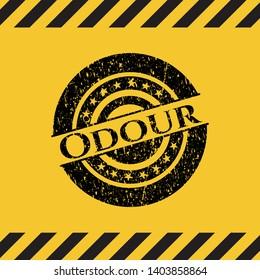Odour grunge warning sign emblem. Vector Illustration. Detailed.