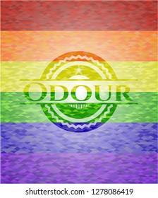 Odour lgbt colors emblem