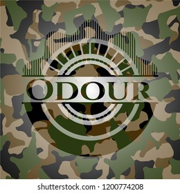 Odour on camouflaged pattern