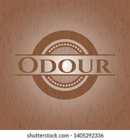 Odour realistic wood emblem. Vector Illustration.
