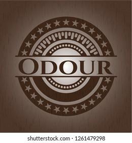 Odour retro wooden emblem