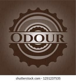 Odour wood emblem. Retro