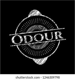 Odour written with chalkboard texture