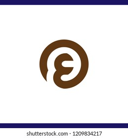 OE Initial Letter Logo Vector Element. OE Initial Template
