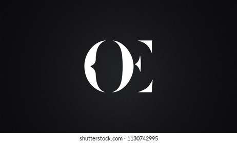 OE Letter  logo Design Template Vector