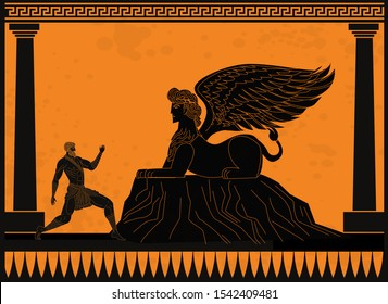 oedipus asking the sphinx riddle greek mythology tale