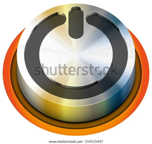 off button vector illustration isolated abstract eps10 / off button
