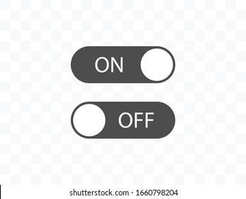 Off, on, toggle icon. Vector illustration, flat design.