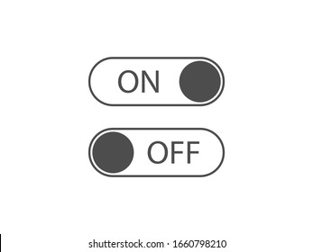 Off, on, toggle icon. Vector illustration, flat design.