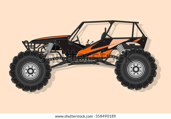 Off Road Buggy 4x4 Vector Stock Vector (Royalty Free) 358490189