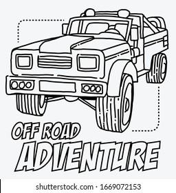 Off road car logo design. Vector Eps10