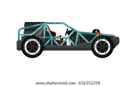 Off Road Dune Buggy Isolated Icon Stock Vector (Royalty Free ...