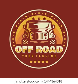 off road logo vector template