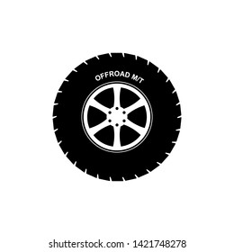 off road tire icon vector illustration - vector