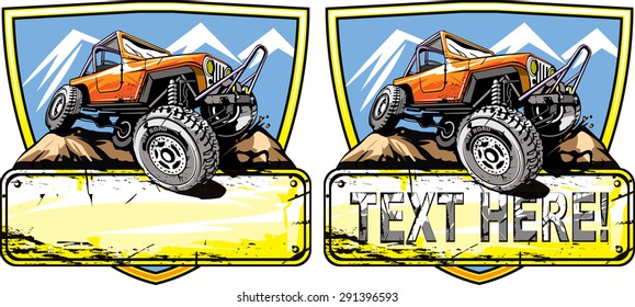 Off road vehicle design.