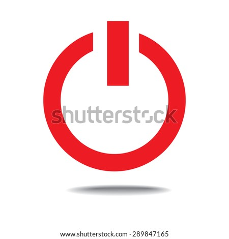 Off Switch Icon Power Symbol Stock Vector Royalty Free 289847165