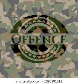 Offence camouflage emblem. Vector Illustration. Detailed.