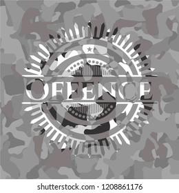 Offence grey camouflage emblem
