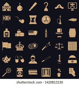 Offence icons set. Simple set of 36 offence vector icons for web for any design