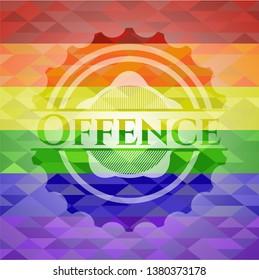 Offence lgbt colors emblem