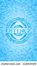 Offence light blue mosaic emblem