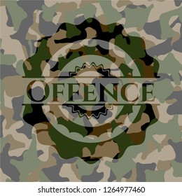 Offence on camouflage texture