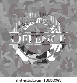 Offence on grey camo pattern