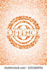 Offence orange mosaic emblem