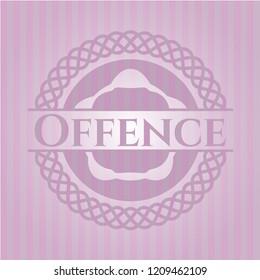 Offence pink emblem