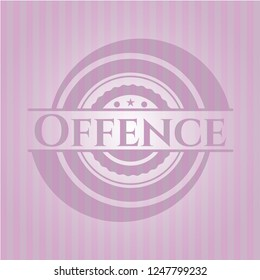Offence pink emblem. Retro
