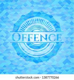 Offence realistic light blue mosaic emblem