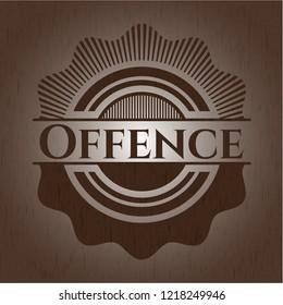 Offence vintage wood emblem