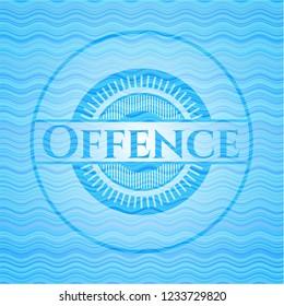Offence water wavec oncept emblem.