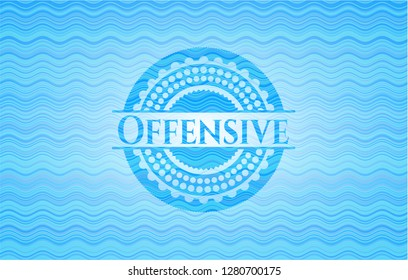 Offensive water representation badge background.