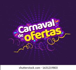 Offers Carnival, Brazilian Carnival, comercial, retail flyer template